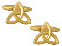 Dalaco 90-1298 Trinity Love Knot Gold Coloured Cufflinks